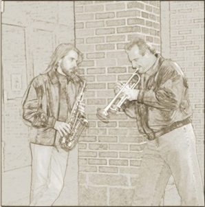 Art Work of Joe Alley and Jeff For The Gettin' Comfotable CD, Sponsored By Southern Comfort