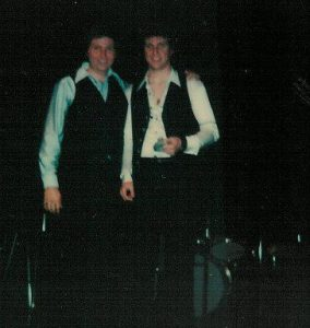 Backstage after a show...Jeff Carver and Bobby O'Donnell