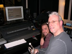 Recording a project for Producer Joe Alley at Winterland Studios in Minneapolis, Feb. '08