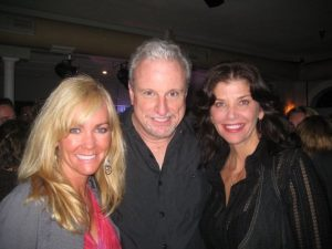 Former Viking Cheerleaders Jodi and Kathleen w/ former Vikes trumpeter Jeff at a High & Mighty gig