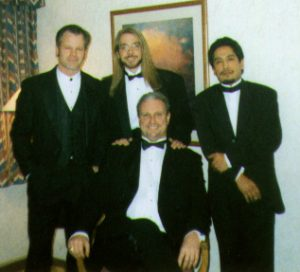 In the dressing room before a casino gig, members of Soul Tight Committee