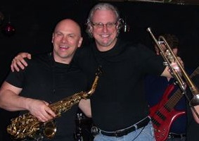Jeff With Sax Man Dave Suchoski at a High & Mighty Gig