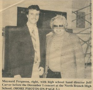Jeff With Trumpet Hero, The Late Maynard Ferguson