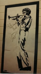 The Students of North Branch High School Drew This Life-size  Picture Of Maynard Ferguson, Which He